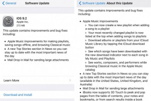 Apple iOS 9.2 released to the public