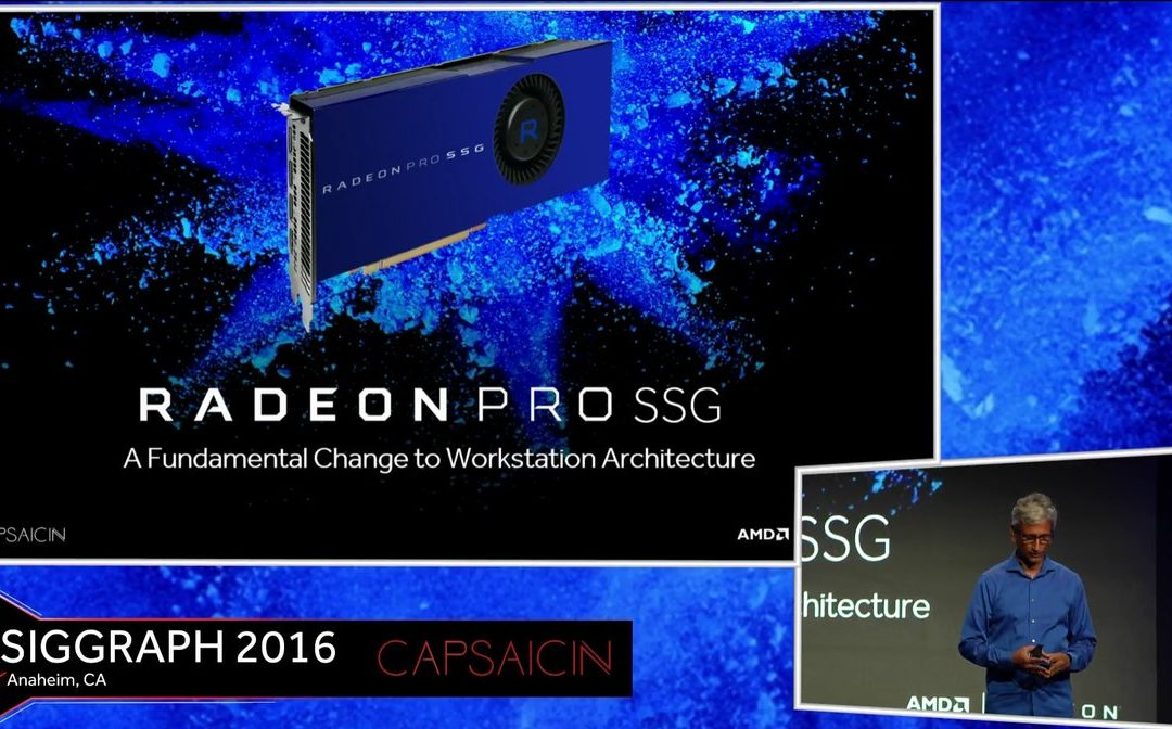 AMD announces Radeon Pro SSG video card with 1TB of SSD memory